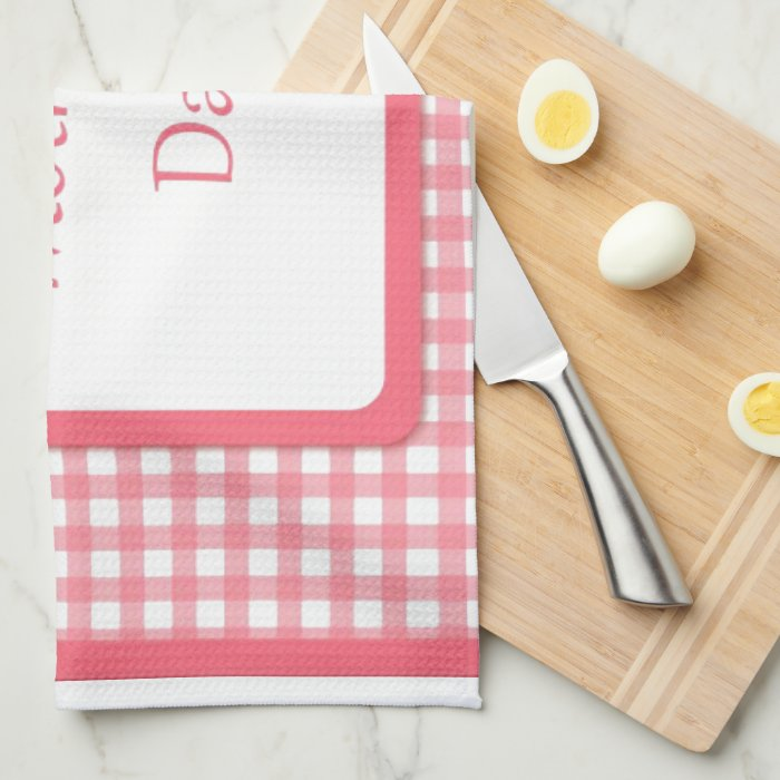 Pink Check Floral Mothers Day Towels Zazzle
