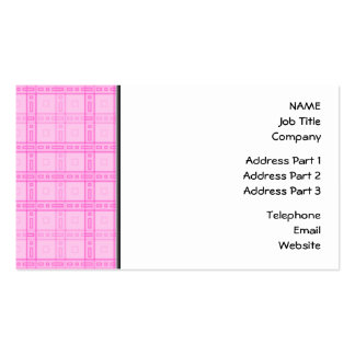 Pink Check Pattern. Business Card