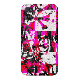Pink Checker Graffiti iPhone 4 Case
