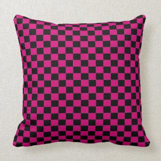 Pink Checker Throw Pillow