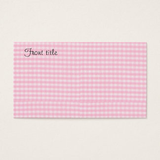 Pink Checkerboard Fabric Background Template Business Card