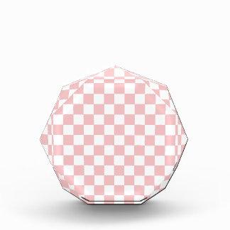 Pink Checkered Pattern Acrylic Award