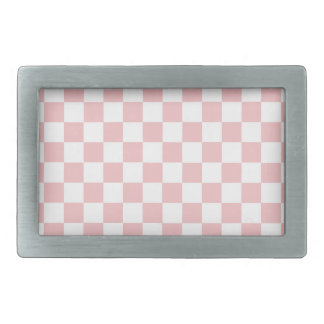Pink Checkered Pattern Belt Buckle