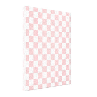 Pink Checkered Pattern Canvas Print