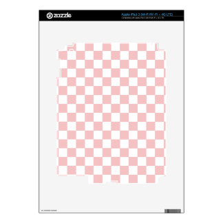 Pink Checkered Pattern Decal For iPad 3