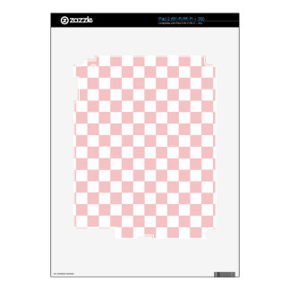 Pink Checkered Pattern iPad 2 Decal
