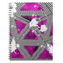 Pink Checkered Punk Grunge Notebook