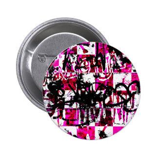 Pink Checkers Pin