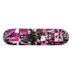 Pink Checkers Skateboard Deck