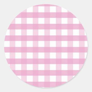 Pink checks sticker