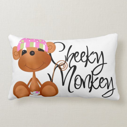 Pink Cheeky Monkey Pillow