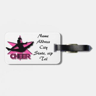 Pink Cheer Bag Tag