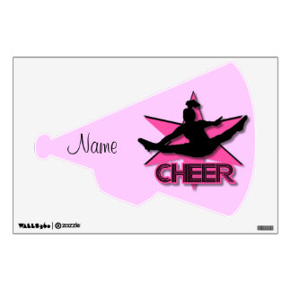 Pink cheer wall decall wall decal
