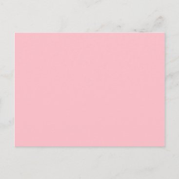 Pink Cheerful Solid Color Postcard