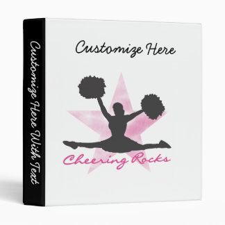 Pink Cheering Rocks T-shirts and Gifts Vinyl Binder