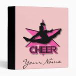 Pink cheerleader Avery binder