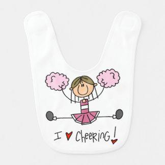 Pink Cheerleader Bib