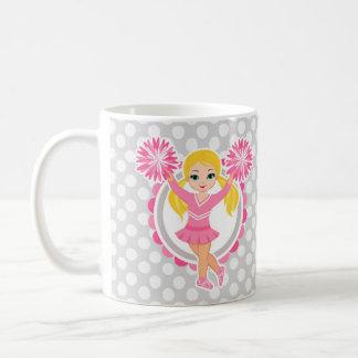 Pink Cheerleader Blonde - Cute Cheer Coffee Mug