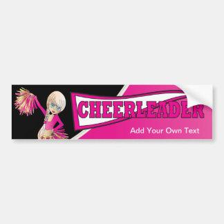 Pink Cheerleader Bumper Sticker