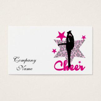 Pink Cheerleader Business Card
