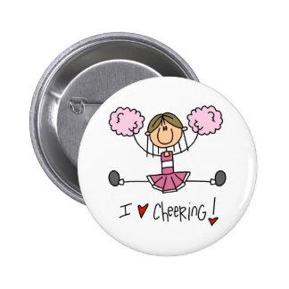Pink Cheerleader Button