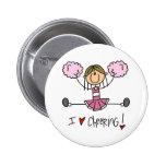 Pink Cheerleader Buttons