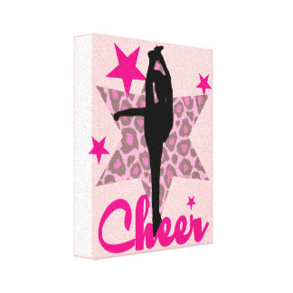 Pink Cheerleader Canvas Print