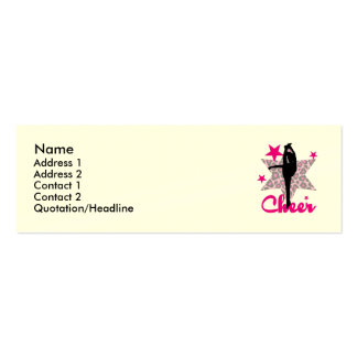 Pink Cheerleader Double-Sided Mini Business Cards (Pack Of 20)