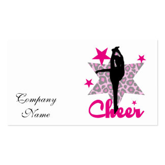 Pink Cheerleader Double-Sided Standard Business Cards (Pack Of 100)