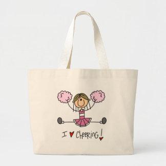Pink Cheerleader Large Tote Bag