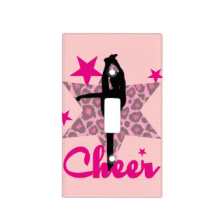 Pink Cheerleader Light Switch Cover