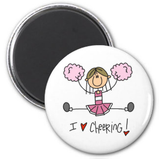 Pink Cheerleader Magnet