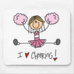 Pink Cheerleader Mouse Pads