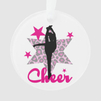 Pink Cheerleader Ornament