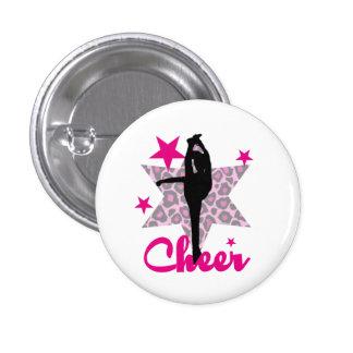 Pink Cheerleader Pinback Button