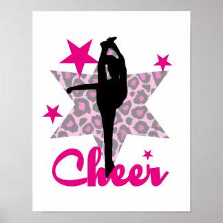 Pink Cheerleader Poster