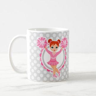 Pink Cheerleader Redhead - Cute Cheer Coffee Mug
