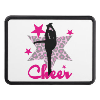 Pink Cheerleader Trailer Hitch Cover