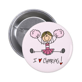 Pink Cheerleader Tshirts and Gifts Button