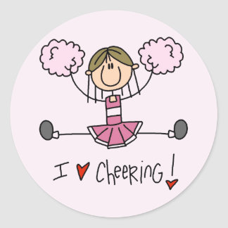 Pink Cheerleader Tshirts and Gifts Classic Round Sticker