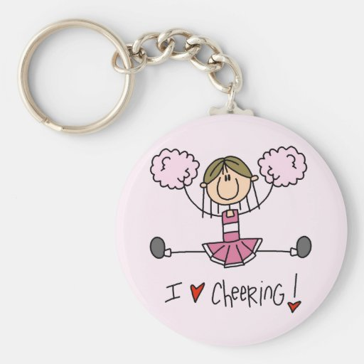 Pink Cheerleader Tshirts and Gifts Key Chains