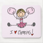 Pink Cheerleader Tshirts and Gifts Mouse Mat