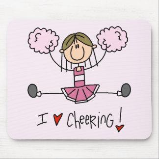 Pink Cheerleader Tshirts and Gifts Mouse Pad