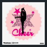 """Pink Cheerleader Wall Sticker<br><div class=""""desc"""">add text or upload your own image</div>"""