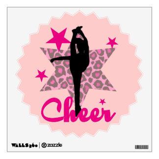 Pink Cheerleader Wall Sticker