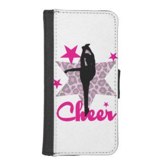 Pink Cheerleader Wallet Phone Case For iPhone SE/5/5s