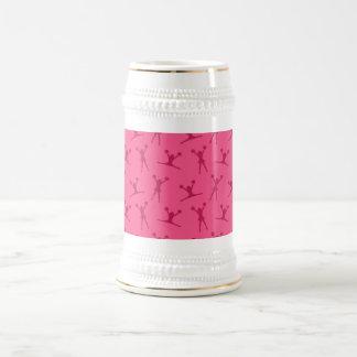 Pink cheerleading pattern mugs