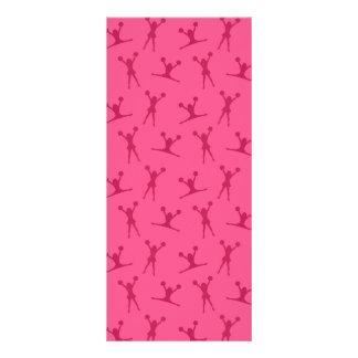 Pink cheerleading pattern rack card template