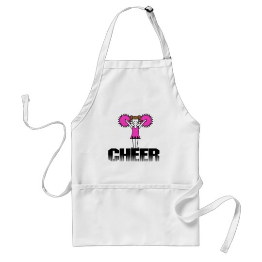 Pink Cheerleading T-shirts and Gifts Adult Apron