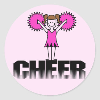Pink Cheerleading T-shirts and Gifts Classic Round Sticker